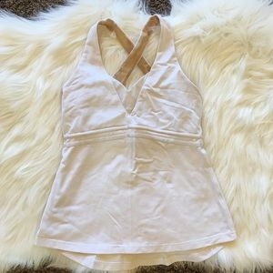 Lululemon Cross Back Tank Top White 4